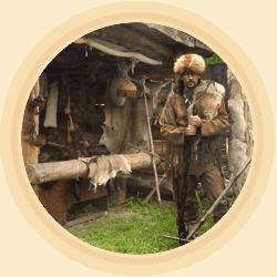 Trapeři, traperský tábor lovců kožešin